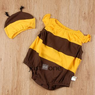 Super Cute Style Baby Infants Toddlers Outfit Soft Cotton Romper Costume Beanie