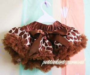 Halloween Xmas Newborn Baby Brown Giraffe Pettiskirt Tutu Dress Up Costume 0 6M