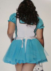 Sexy Sissy Alice in Wonderland Adult Baby Tutu Halloween Costume Dress 1x 2X