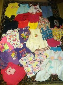 Huge 69 Piece Lot Baby Girl Clothing 6 12 18 24 Months 2T and 3T