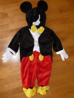 Baby Disney Boys Mickey Mouse Costume Dress Up Size 6 9 12 18 MO Jumpsuit