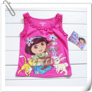 DORA THE EXPLORER Girls Size 2 3 4 5 Dress Skirt Top T Shirt Outfit Costume Set