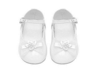 Toddler Infant Baby Girl Dress Formal Shoes Pageant Wedding Birthday Party White