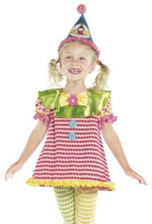Kids Circus Clown Outfit Girls Toddler Halloween Fancy Dress Costume