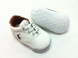 New Polo Soft Sole Baby Boys Girls Casual Sneakers Crib Shoes Age 6 12 12 18 M