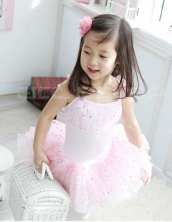 Girls Fairy Ballet Dance Costume Party Dress Tutu 4 10Y
