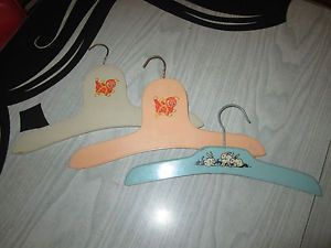 Vintage Baby Clothes Hangers Boys Girls Kids 1940s 1950s Cute Animals Wood