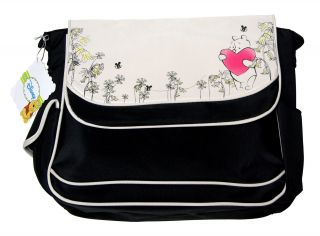 Disney Winnie Pooh Bees Heart Baby Large Messenger Tote Diaper Bag Unisex New BK