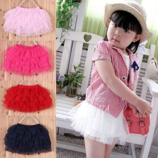 Stylish Princess Skirt Layered Chiffon Dress Tutu Cute Baby Kid Girl Party Dance