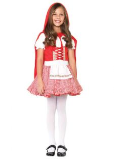 New Girls Little Red Riding Hood Dress and Cape Kids Children Halloween Costume