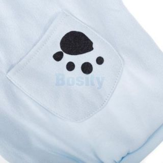 Pet Dog Puppy Polar Fleece Spring Coat Sports Polo Shirt Clothes Apparel Blue M