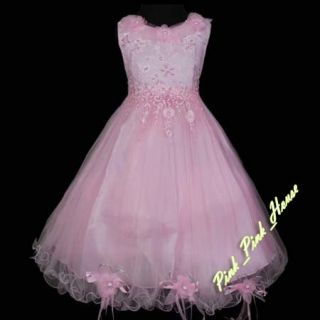 P188 80 Pink Pageant Party Wedding Girls Dress 7 8T