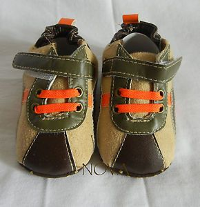 Brown Boy Infant Toddler Shoes Baby Boy Pre Walker Shoes size3 4 5