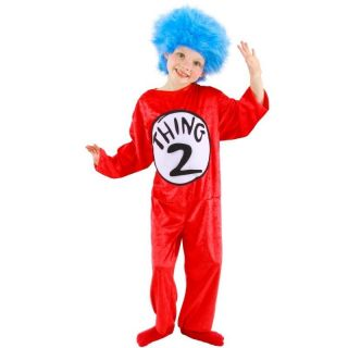 Child Toddler Kid's Book Dr Seuss Cat in The Hat Thing 1 and Thing 2 Costume