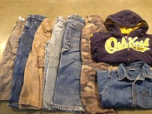 Toddler Boy 4T Clothes Lot Pants Jeans Sweatshirt Collared Shirt OshKosh Carters