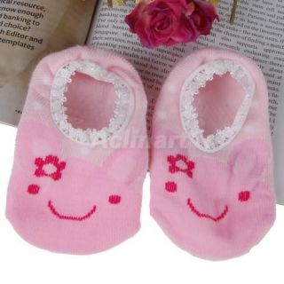 Baby Anti Slip Ankle Socks Slipper Shoes Boots Rabbit