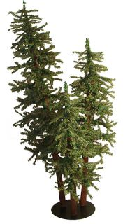 Natural Alpine Artificial Christmas Tree Trio Set Unlit