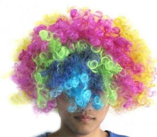 Multi Coloured Clown Halloween Costume Party Hair Wig