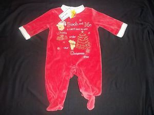 Disney Baby Boys Girl 3 6M 3 6 Month MO Velour Christmas Clothes Outfit Pooh