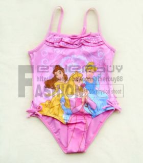 Girl Kid Pink Tankini 3 Fairies Swimsuit Swimwear Bathing Size 1 8 Years Costume
