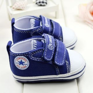 Hot Baby Boy Soft Sole Crib Shoes Fist Worker Toddler Canvas Sneaker CO01