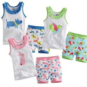 Baby Toddler Kid Boy Multi Style Summer Short Sleepwear Sleeveless Pajama SE New