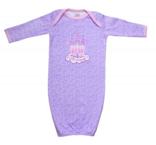 100 Organic Cotton Little Princess Sleep Gown for Newborn Infant Baby Girls