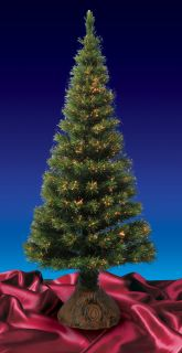 6' Pre Lit Color Changing Fiber Optic Artificial Christmas Tree Multi Lights