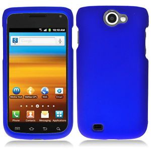 Blue Rubberized Hard Case Cover Samsung Galaxy Exhibit II 2 4G T679 Accessory
