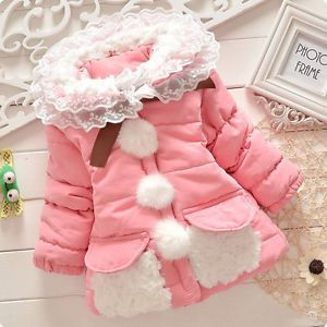 New Baby Girl Kids Fashion Coat Warm Jacket Toddler Clothing Winter Clothes XY