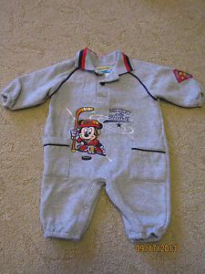 Boy's Infant Baby Clothes Mickey Mouse Hockey Sports 1 PC Outfit Size 0 6 Months