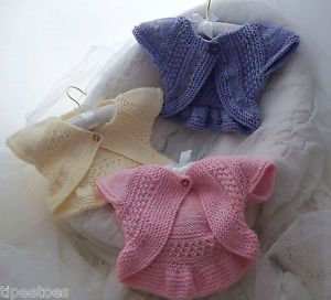 Hand Knitted Baby Clothes Girls Knitted Bolero Cardigans So Pretty