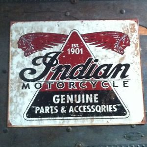 Indian Motorcycle Parts Metal Man Cave Sign Triumph Harley BSA Rat Rod