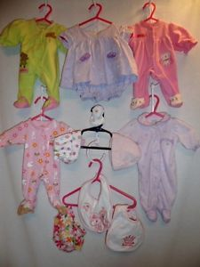 Baby Girl Clothing Wholesale Lot of Preemie to 3 Month Old Nice Pre Owned