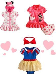 New Disney Baby Girl Toddler Clothes Set Top Skirt Dress Head Band Size 6M 3Y