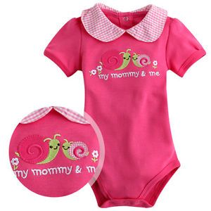 Made in Korea Mom and Me Pink Baby Boy Girl Infant Cotton Clothing WBA 1051