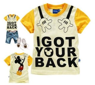 New Baby Boys Girls Mickey Mouse Short Sleeve Tee T Shirts 6 7Years 130