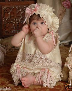 Baby Child Girl Victorian Bloomers Bonnet Dress Lot Photo Studio Prop Clothing