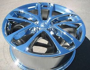 "4 New 18"" Factory Nissan Altima Chrome Wheels Rims 09 12 Maxima G35 Murano"