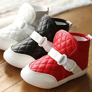Kids Boys and Girls Winter Cotton Snow Boots Baby Toddler Shoes Size 1 13 5