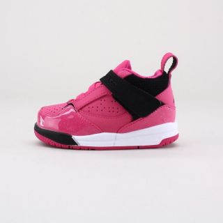 Infant Girls Nike Jordan Flight 45 TD Basketball Shoe Pink 364759 607
