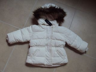 Gap Toddler Baby Kids Girls Warmest Jacket Top Coat White Ruffle Hoodded