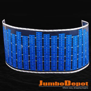 90cm 25 cm Car Music Rhythm LED Flash Lamp Sticker Decorative Blue Set Equalizer