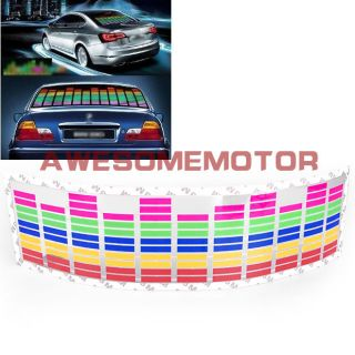 Colourful Car Music Rhythm LED Flash Light Lamp Sticker Sound Equalizer Decor