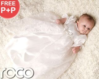 Baby Girls Christening Gowns White Ivory Vintage Traditional Baptism Gown
