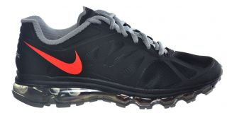 Nike Air Max 2012 GS Big Kids Running Shoes Black Crimson Silver 488122 007
