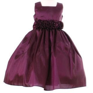 Sweet Kids Girls Plum Easter Flower Girl Dress 3T