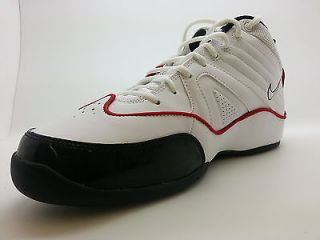 426523 162 Mens Nike Air Flight Above White Black Patent Red Training Sneakers