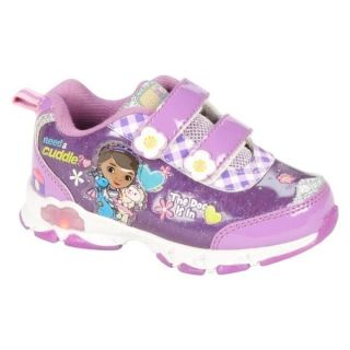 New Toddler Disney Doc McStuffins Athletic Sneaker Shoe Lights Up 9 10 11 Velcro