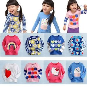 "Baby Toddler Kids Boy Girl Clothes Long Top Tee Shirts ""Cool T Shirts Girl """